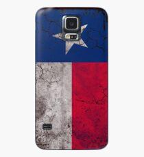 Funda/vinilo para Samsung Galaxy Bandera vertical del estado de Texas de la vendimia
