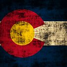 Vintage Grunge State of Colorado Flag by iEric