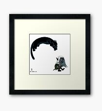 Drizzt and Guenhwyvar Framed Print