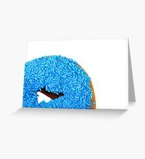 Blue Doughnut Greeting Card