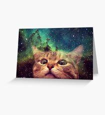 Space cat dj Greeting Card