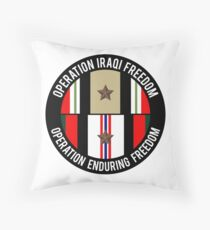 OIF and OEF deployments Throw Pillow