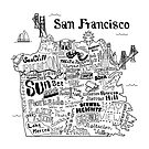 San Francisco Illustrated Map by Claire Lordon