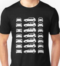 VW Golf MK1 - MK7 Front Side Rear White Sticker Unisex T-Shirt