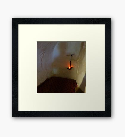 The Light In The Stable Framed Print