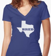 Texas Bred Women's Fitted V-Neck T-Shirt