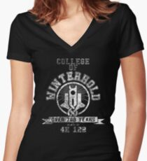 Skyrim - College Of Winterhold - College Jersey Women's Fitted V-Neck T-Shirt