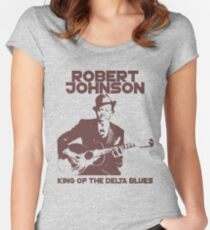 Robert Johnson - King of the Delta Blues Women's Fitted Scoop T-Shirt