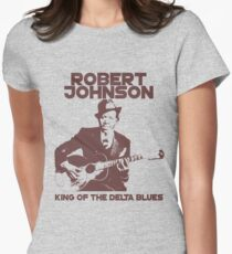Robert Johnson - King of the Delta Blues Womens Fitted T-Shirt