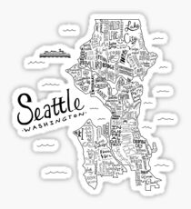 Seattle Map Sticker