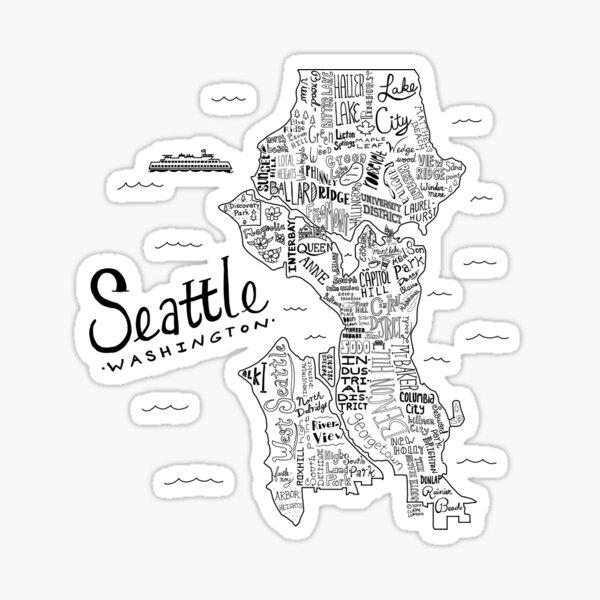 Seattle Map Sticker