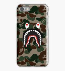 BAPE Camo + Shark Face Logo iPhone Case/Skin
