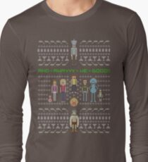 Rick and Morty Family Portrait (dark) Long Sleeve T-Shirt
