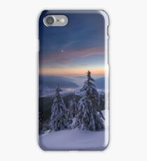 Evening in winter mountains iPhone Case/Skin