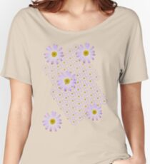Purple Daisy Women's Relaxed Fit T-Shirt