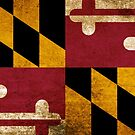 Vintage Grunge Flag of Maryland by iEric