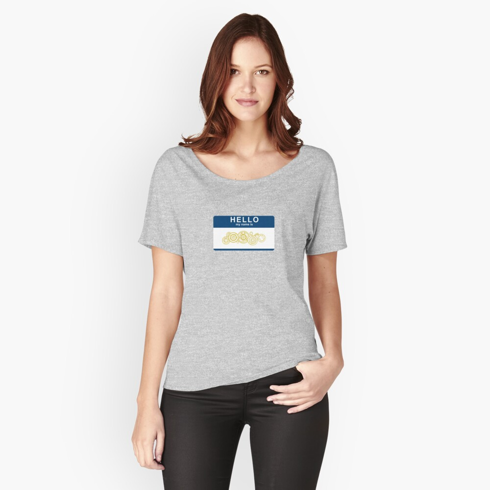 Hello, My Name Is The Doctor Women's Relaxed Fit T-Shirt Front