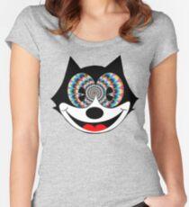 trippy felix Women's Fitted Scoop T-Shirt