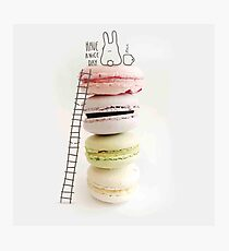 French macaroon,pasteries,food hipster, digital photo, cute,kid,kids,modern,trendy Photographic Print