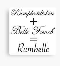 Rumbelle Equation Canvas Print