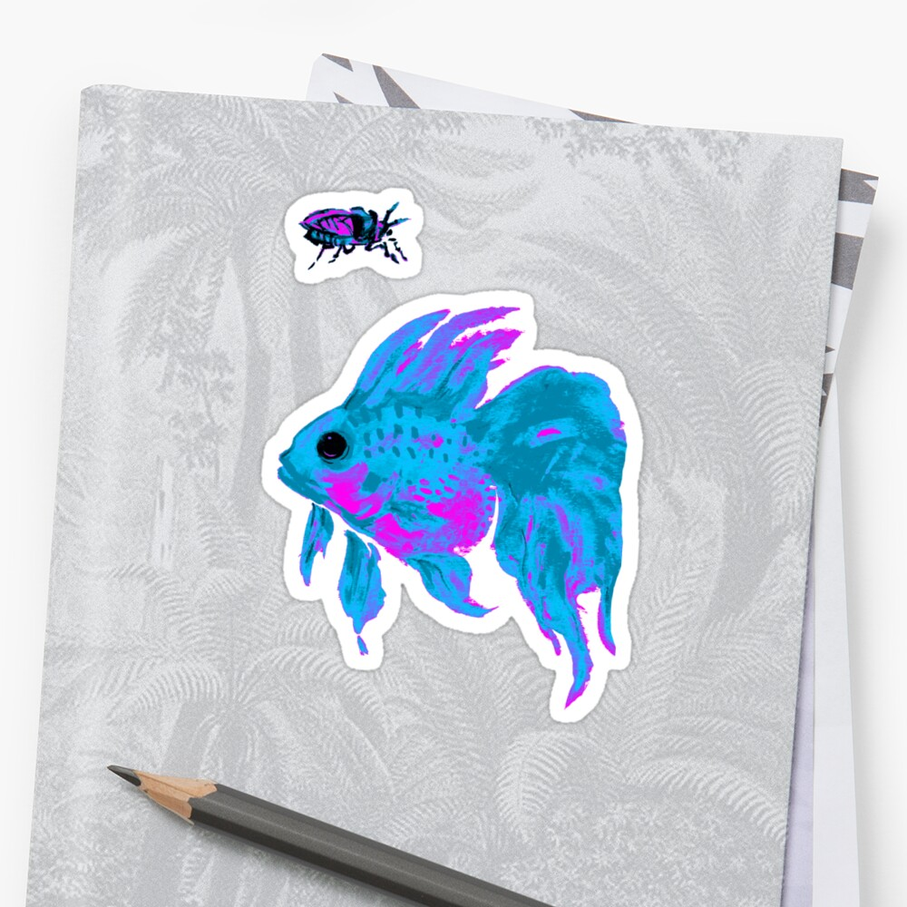 cool electric goldfish & bug by HiddenStash