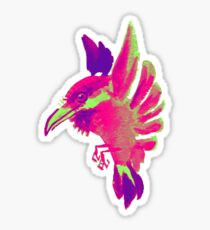 pink glow kingfisher Sticker
