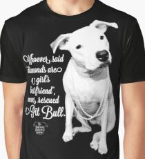 Girls Best Friend Rescued Pit Bull Graphic T-Shirt