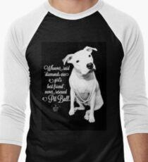 Girls Best Friend Rescued Pit Bull Baseball ¾ Sleeve T-Shirt