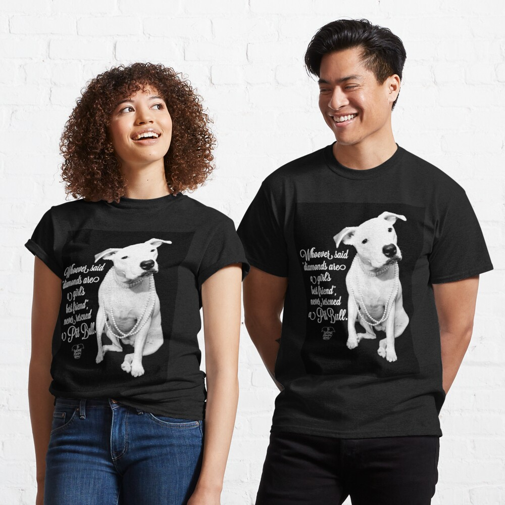 Girls Best Friend Rescued Pit Bull Classic T-Shirt