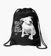 Girls Best Friend Rescued Pit Bull Drawstring Bag
