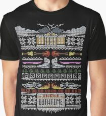 Back to the Future Christmas Graphic T-Shirt