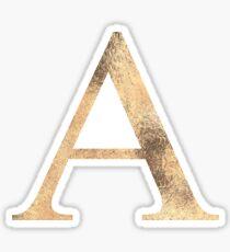 Gold Alpha Sticker