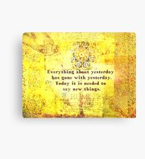 Rumi Inspirational life healing quote Canvas Print