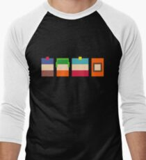 South Park Boys Pixel Art Men's Baseball ¾ T-Shirt