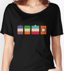 South Park Boys Pixel Art Women's Relaxed Fit T-Shirt