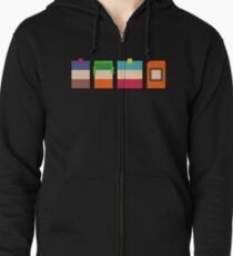 South Park Boys Pixel Art Zipped Hoodie