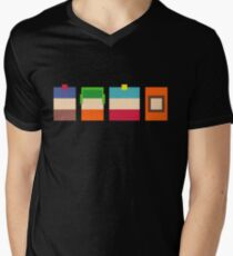South Park Boys Pixel Art Men's V-Neck T-Shirt