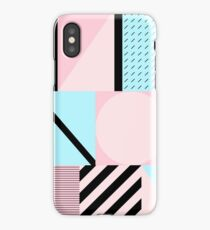 geometrics pastel contrast iPhone Case/Skin