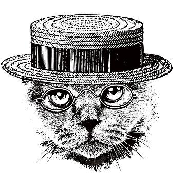 The Most Interesting Cat In The Hat by DeepFriedArt