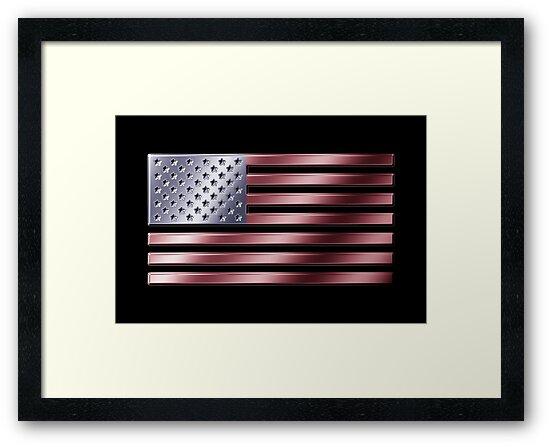 American Flag - USA - Metallic by graphix