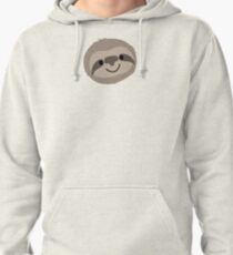 Happy Lazy Sloth Face Pullover Hoodie