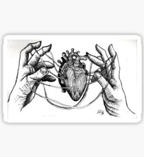 Heart Strings to the Hand Sticker