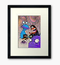 Monster Party Framed Print