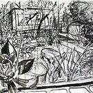 A Sketch of my Back Garden of my Last Rental Property in Footscray by Rich McLean