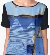 """Back Beach Blues"" Chiffon Top"