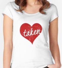 Taken Valentines Day Heart Women's Fitted Scoop T-Shirt