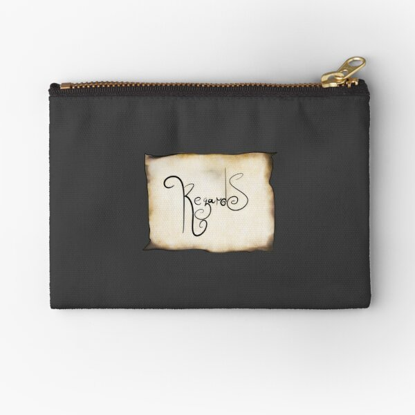 """REGARDS"" Zipper Pouch"