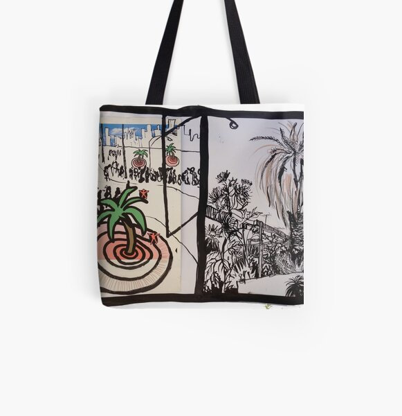The Palm Tree, and The Palm Tree (Contrasting Styles) All Over Print Tote Bag