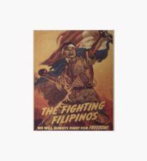 Weinleseplakat - die kämpfenden Filipinos Galeriedruck