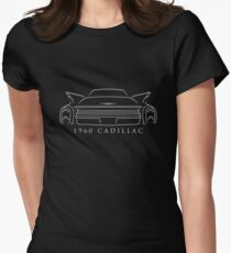 1960 Cadillac - rear stencil, white Womens Fitted T-Shirt